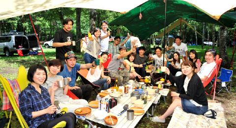 画像:キャンプ最高!